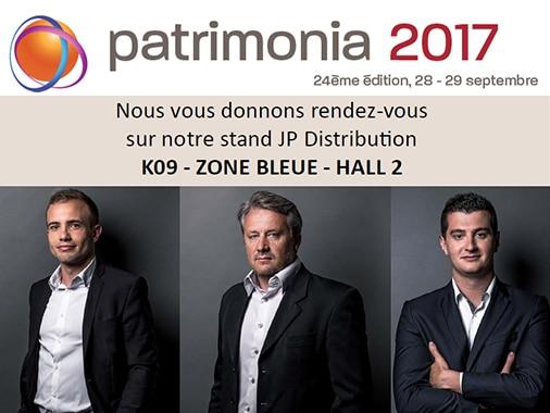 JP Distribution vous donne rendez-vous au salon Patrimonia 2017 le 28 et 29 septembre