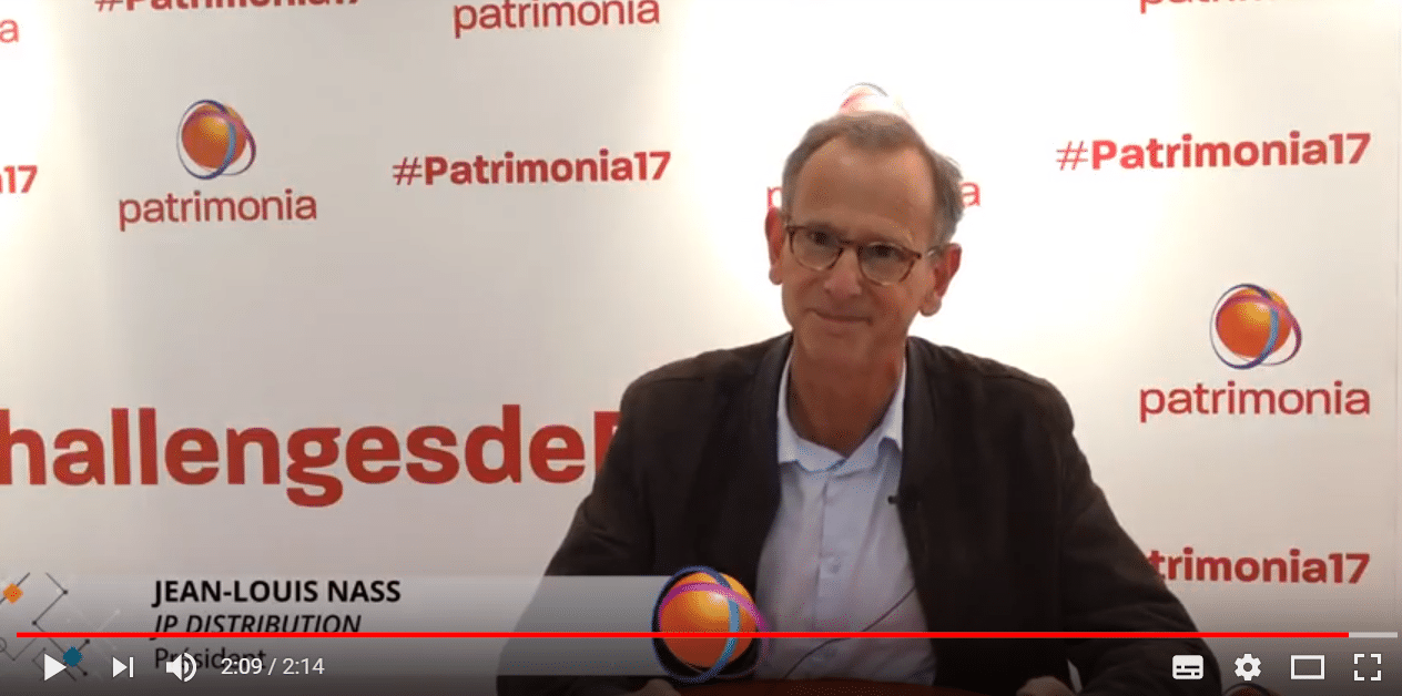 Jean-Louis Nass sur la Social Media Room de Patrimonia 2017